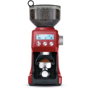 Smart Grinder Pro with Adjustable Dose Control in Cranberry Red