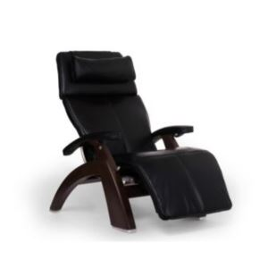 Perfect Chair - Dark Walnut Electric Base with Black Premium Leather