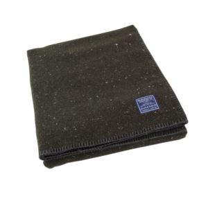 Utility Wool Throw - Olive