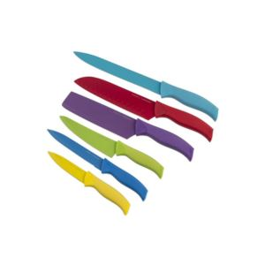 Non-Stick Knives Soft Grip Handle and Sheeth - (6 Piece)