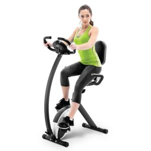 Marcy Foldable Exercise Bike with High Back Seat