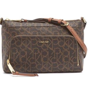 Hayden Monogram Saffiano Crossbody - Brown/Khaki/Luggage
