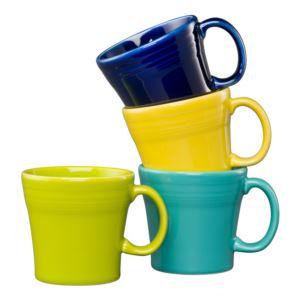 4PC Tapered Mug Set- Cool Colors Size 15 oz