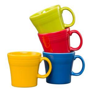 4PC Tapered Mug Set- Bright Colors Size 15 oz