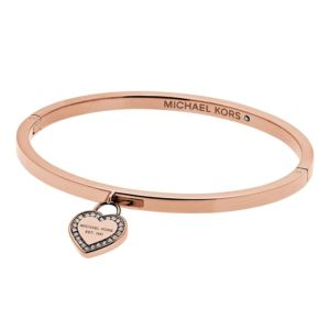 Mk Logo Rose Gold-Tone Bracelet