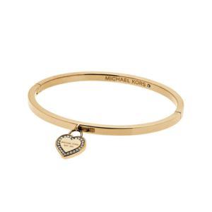 MK Logo Gold-Tone Bracelet