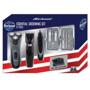 Rechargeable Power Single Blade Wet/Dry Electric Shaver Grooming Kit