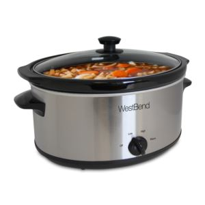 6 Qt. Round Stainless Steel Slow Cooker