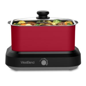 6Qt. Versatility Slow Cooker with Red Tote and Lid