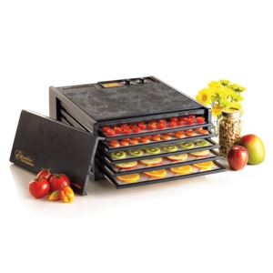 Excalibur - 5-Tray Electric Food Dehydrator with Timer - Black