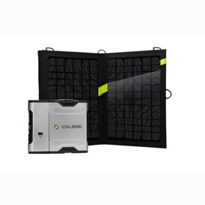 Sherpa 50 Solar Recharging Kit with Inverter (SilverBlack)