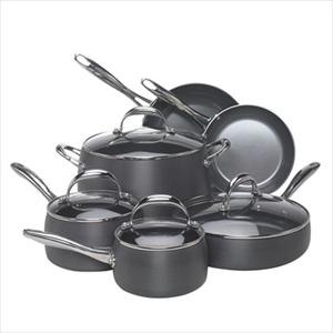 Hard Anodized, 10pc Cookware Set