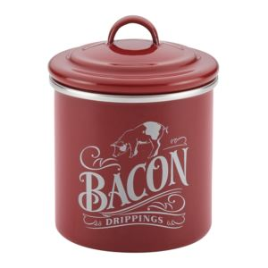 Bacon Grease Can Sienna Red