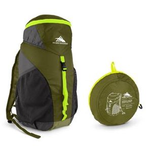 Pack-N-Go 20L Sport Backpack Moss/Mercury/Chartreuse