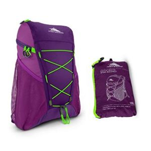 Pack-N-Go 18L Sport Backpack Eggplant/Berry Blast/Lime