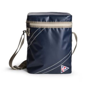 Nautical cooler bag small, blue
