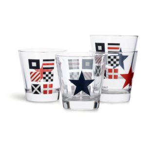 Nautical drink glass, 4 pack