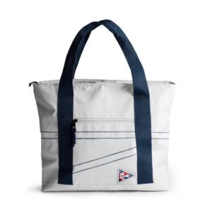 Nautical cooler bag large, white