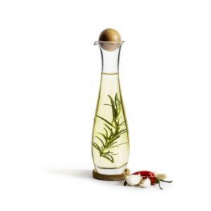 Oak single serve bottle w/coaster large