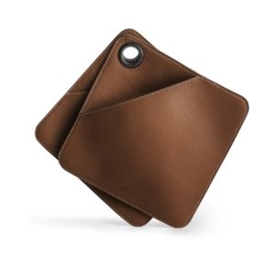 """Faux leather BBQ pot holder,"""" 2 pack"""