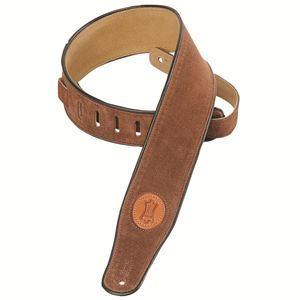 Levy's Leathers Suede Leather Guitar Strap, Brown