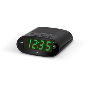 "Dual Alarm Clock Radio w/USB Charging Port,"" 1.2"" Display"