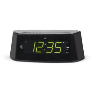 "Dual Alarm Clock Radio with 1.4"" LED Display"