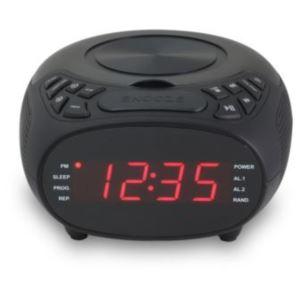 "Dual Alarm CD Clock Radio 0.9"" Red LED Display"