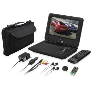 """9"""" Portable DVD Player Value Pack"""