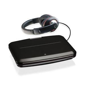 "9"" Portable DVD  Player w/Swivel Screen and Headphone Bundle"