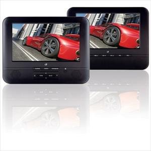 "Portable DVD With Dual 7"" Screens"
