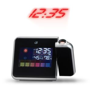 Portable Weather Alarm Clock with Time Projection