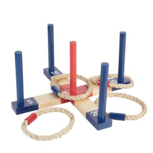 Outdoor Wood Ring Toss Set