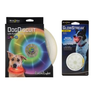 Man's Best Friend Package - Dog Discuit and Glowstreak Ball
