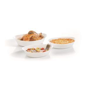 3pc Smart Cuisine Oval Baking Dish Set