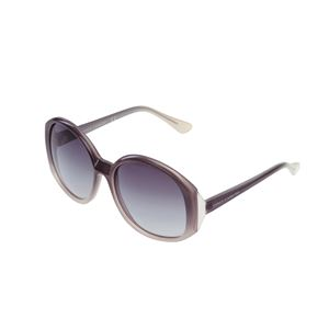 Round Frame Sunglasses in Grey Ombre