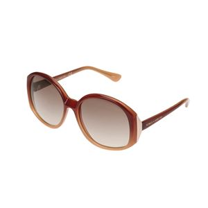 Round Frame Sunglasses in Brown Ombre