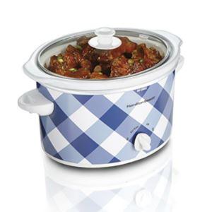 3 Quart Slow Cooker - (Blue Gingham)