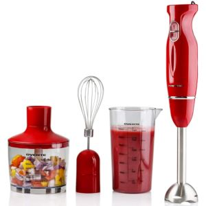 Electric Immersion Hand Blender Set - Red