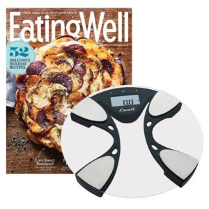 Body Fat/Body Water Bath Scale & Eating Well Subscription