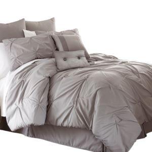 24 Piece Comforter Set Ella Grey Queen