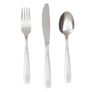 Bourne Satin Mirror 24pc Flatware Set for 8