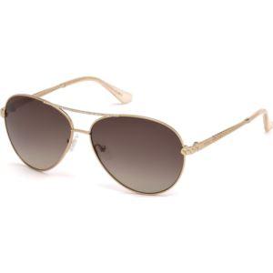 Women's Sunglasses - Shiny Rose Gold/Brown Gradient Lenses