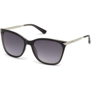 Women's Sunglasses - Shiny Black/Smoke Gradient Lens