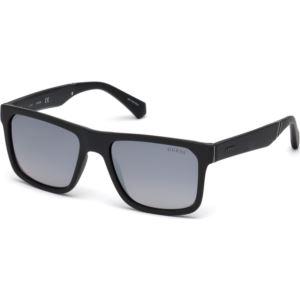 Men's Sunglasses - Matte Black/Smoke Mirror Lens