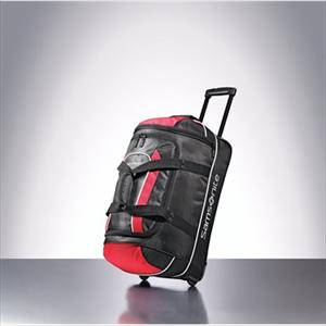 "Andante 22"" Casual Wheeled Duffel--Black/Red"