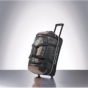 "Andante 22"" Casual Wheeled Duffel--Black/Grey"