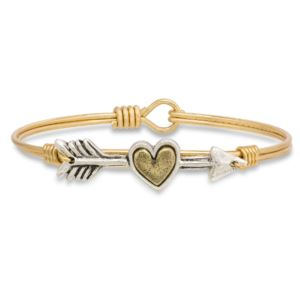 Follow Your Heart Brass Tone Size Petite