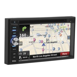 "6.2"" Touchscreen Double Din Bluetooth Mutlimedia Receiver w/ Navigation"