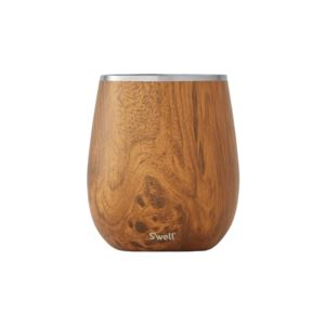 9 oz Teakwood Wine Tumbler